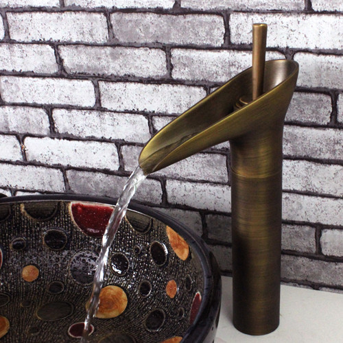 Modern Sinks And Faucets : Contemporary Modern Design Antique Brass Bathroom Vessel Sink Faucet ...