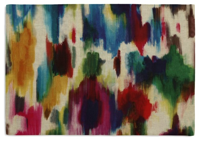 Jewel Tone Dappled Watercolor Custom Placemat Set contemporary-placemats