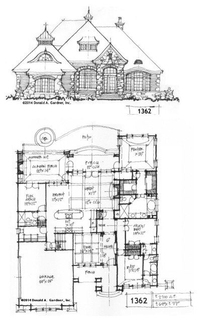 Conceptual Design #1362 rustic-floor-plan