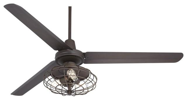 60 turbina industrial oil rubbed bronze ceiling fan. Black Bedroom Furniture Sets. Home Design Ideas