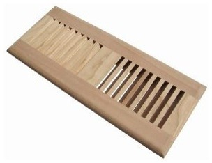 """4""""x12"""" Self Rimming Floor Vent made of Maple traditional-registers-grilles-and-vents"""