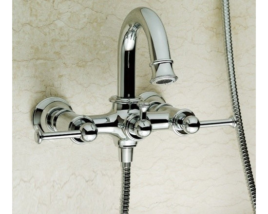 Shower Faucets - Contemporary Two Handle Mixer Taps Shower and Bathtub Faucet--FaucetSuperDeal.com