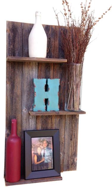 Reclaimed Wood Wall Shelf Rustic Display And Wall Shelves
