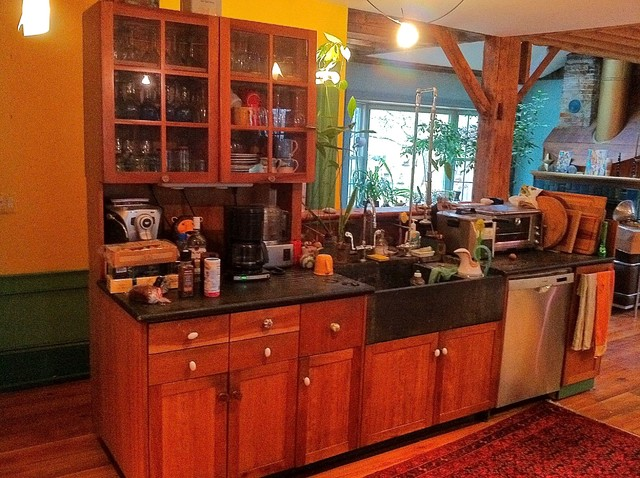Timber Frame Farmhouse Renovation eclectic