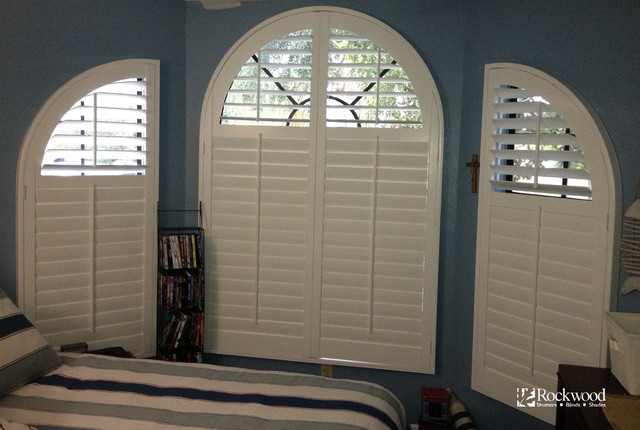 Plantation Shutters Arch Window Traditional
