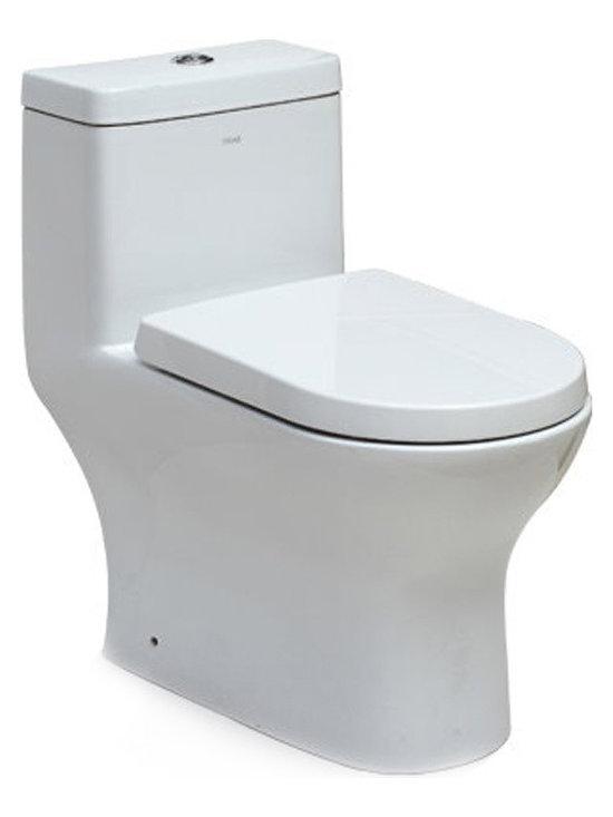 EAGO TB353 Dual Flush One-Piece Toilet -