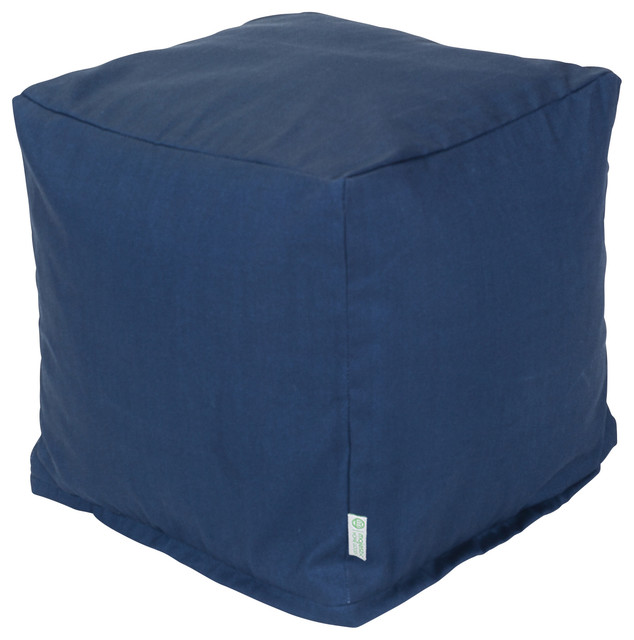 Outdoor Navy Blue Solid Small Cube Contemporary