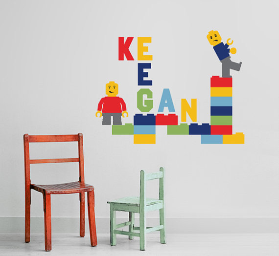 Brickman Childrens With Custom Name Vinyl Wall Decal By In An Instant  Contemporary Wall