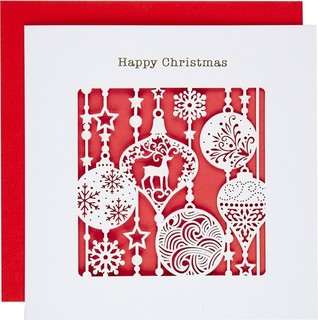 Paperlink Baubles Christmas Card - Contemporary - Holiday Decorations - by John Lewis