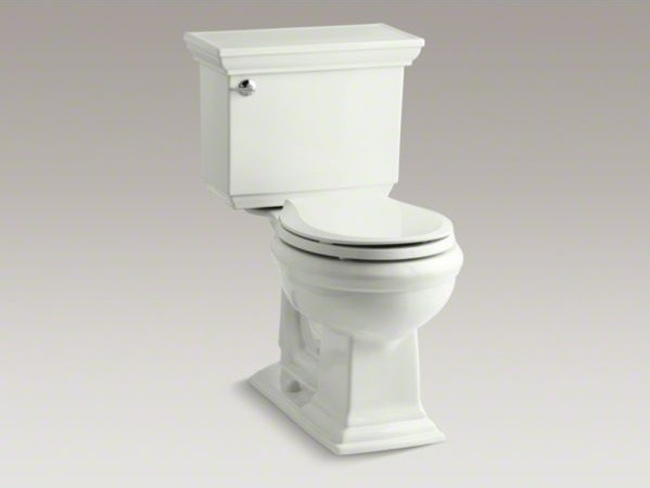 KOHLER Memoirs(R) Stately Comfort Height(R) two-piece round-front 1.28 gpf toile contemporary-toilets