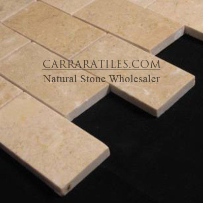 Crema Marfil Marble 3x6 Marble Subway Tile Polished  bathroom tile