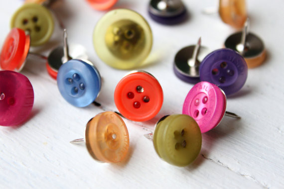 Button Push Pins by When It Rains eclectic-bulletin-boards-and-chalkboards