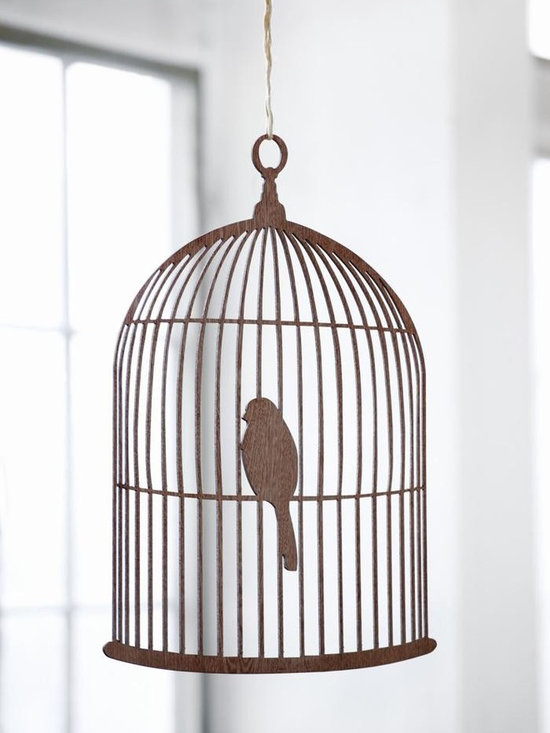 Ferm Living Birdcage Mobile - Here is a bird that it is okay not to feed. The Birdcage Mobile by Ferm Living is made of carved plywood with fine details.