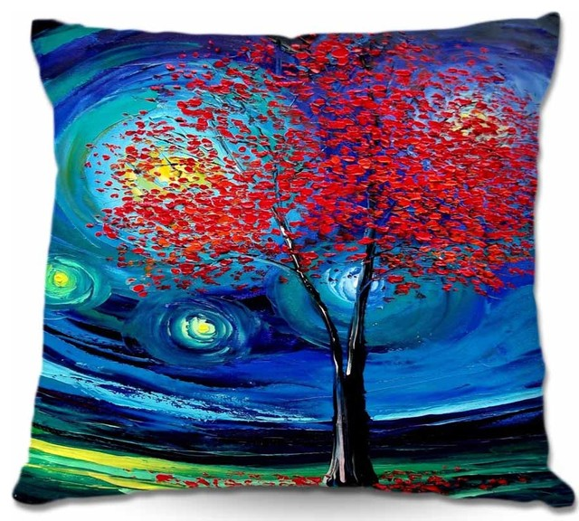 Pillow Linen - Story of the Tree Act xli contemporary-decorative-pillows