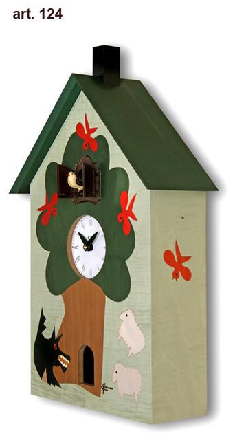 Modern cuckoo clocks- Beware of the wolf contemporary-cuckoo-clocks