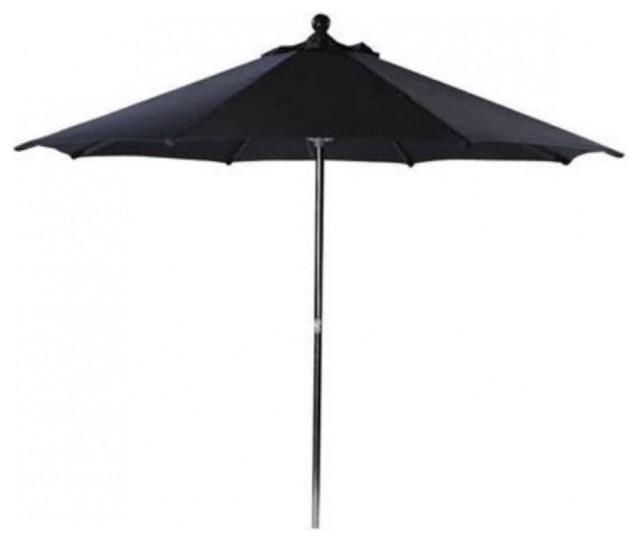 leisuregrow round stainless steel garden parasol pulley