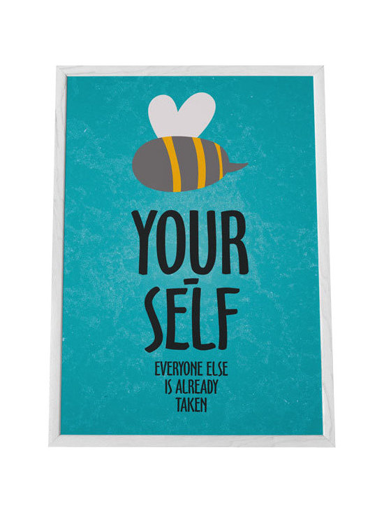Nursery code - Nursery wall art print- Be yourself-Everyone else is already taken - Be yourself, everyone else is already taken