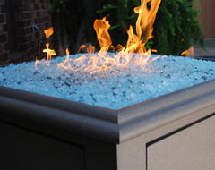 Sunset Bay Square Gas Fire Pit traditional-fireplace-accessories