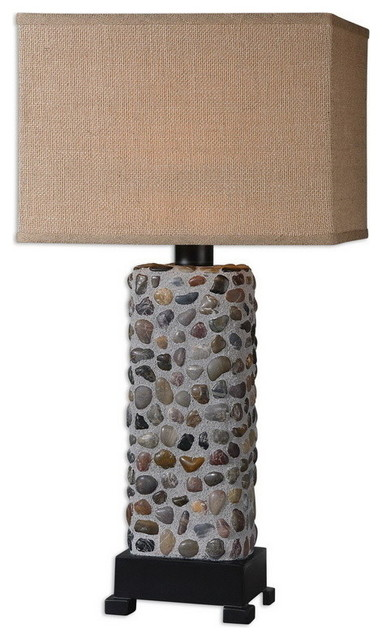 Uttermost 26474-1  Dolores Stone Inlay Lamp transitional-table-lamps