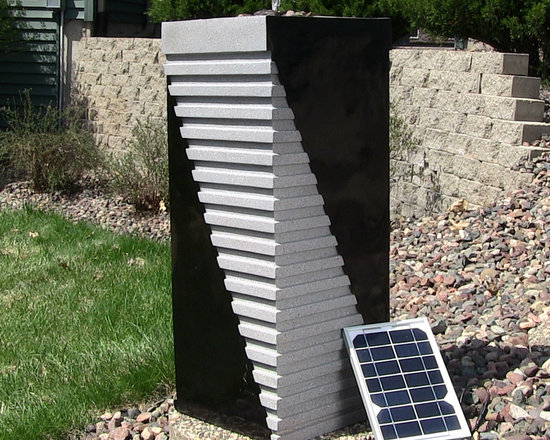 Outdoor Classics Designer Tower Solar On Demand Fountain -