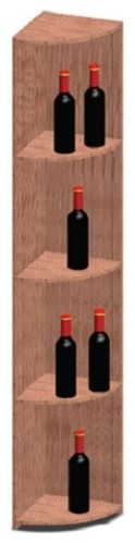 Vinotemp Rack-QR-PR Quarter Round Shelf Premium Redwood Wine Rack modern-wine-racks