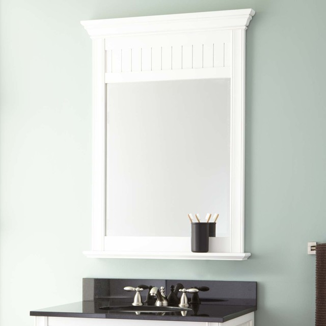 cottage retreat vanity mirror traditional bathroom mirrors
