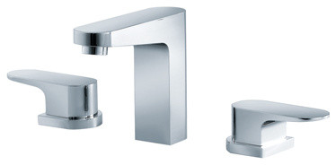 """Isenberg 180.2000 Three Hole 8"""" Widespread Faucet contemporary-bathroom-faucets-and-showerheads"""