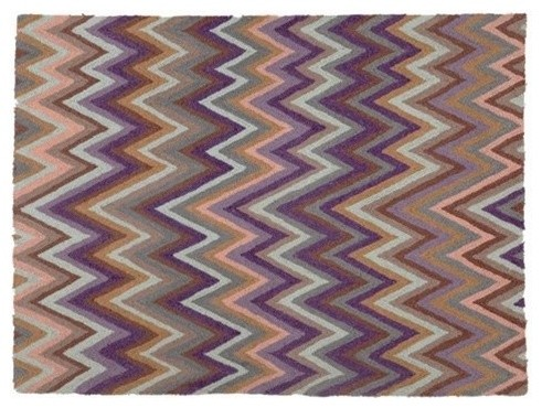Chevron Indigo Rug contemporary rugs