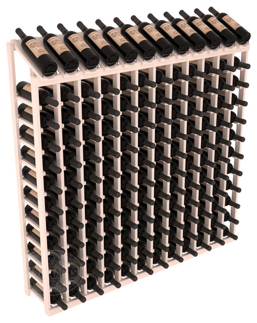 144 Bottle Display Top Wine Rack in Pine, White Wash Stain contemporary-wine-racks