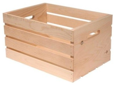 Houseworks ltd 18 in x 12 5 in x 9 5 in wood crate for Kitchen cabinets 94565