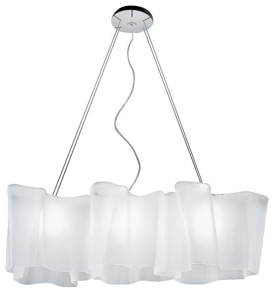 artemide logico flu linear suspension pale grey