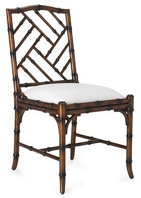 Brighton Bamboo Side Chair traditional dining chairs and benches