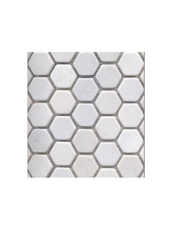 White Snow Marble Hexagon -