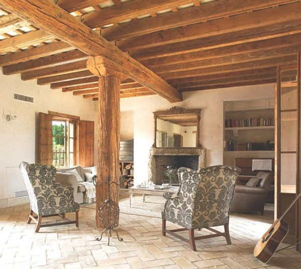OLD SPANISH TERRACOTTA FLOOR mediterranean family room