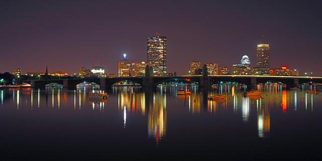 City Skyline Wall Decor Contemporary Artwork Boston
