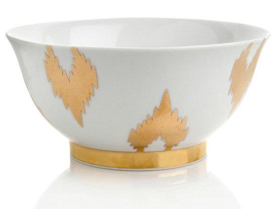Nate Berkus Porcelain Ikat Bowl -