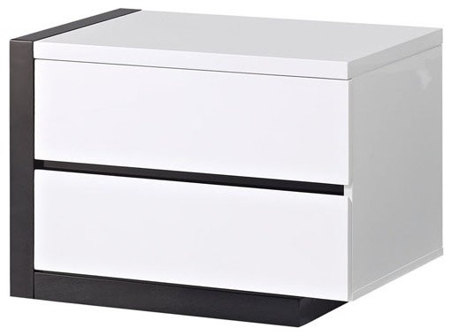 Trinity 2 Drawer Nightstand In White
