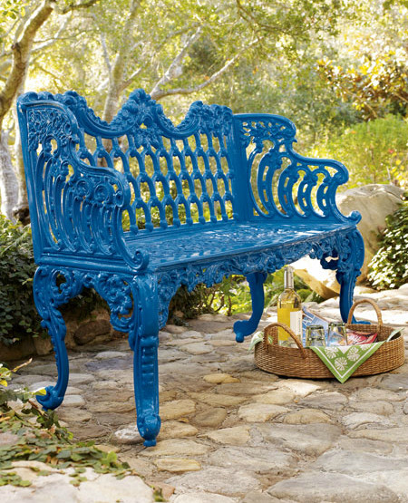 Blue Bench contemporary outdoor stools and benches