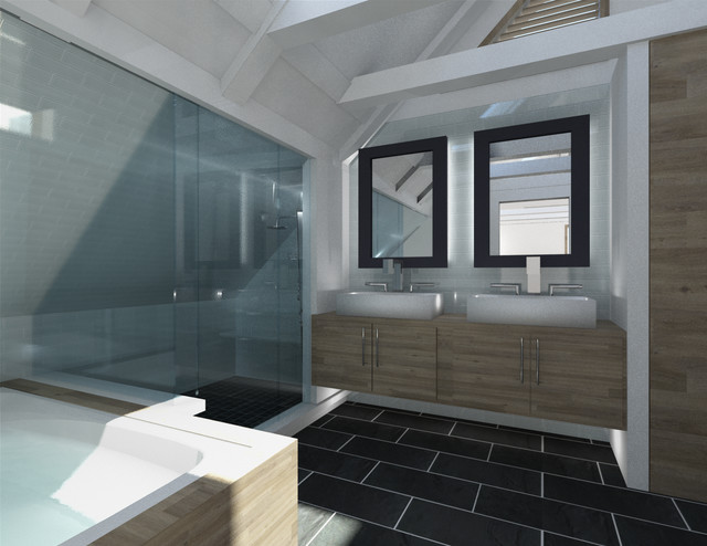 Swiss Attic to Master Suite contemporary-rendering