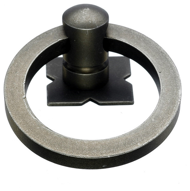 Pewter Ring Pulls, 1 9/16 in. - Traditional - Cabinet And ...