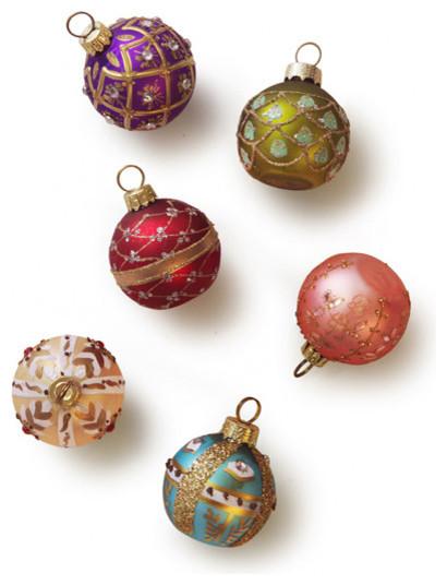 Ornament/Place Card Holder, Glitter Bulbs contemporary-christmas-ornaments