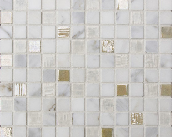 Cascade Blend #10 - The Cascade Collection includes 11 different blends of ceramic tile and natural stone
