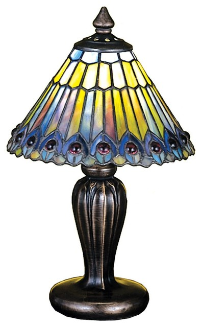 Meyda Tiffany Animals Table Lamp in Copperfoil midcentury-table-lamps
