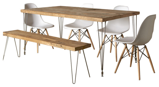 Urban Loft Reclaimed Wood Dining Table contemporary-dining-tables
