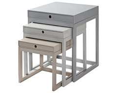 Gray Melrose Nesting Tables traditional side tables and accent tables