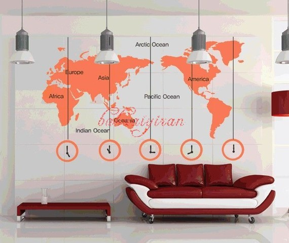 map of the world vinyl wall sticker by babaaiyiran. Black Bedroom Furniture Sets. Home Design Ideas