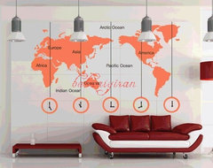 Map of the World Vinyl Wall Sticker by babaaiyiran contemporary decals