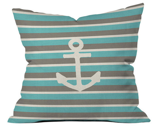 DENY Designs Bianca Green Anchor 1 Throw Pillows