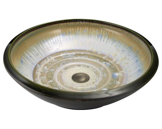 Indikoi Sinks LLC - SOHO: Vessel Mount Sink, Ivory Crystal Dark Olive - The Soho style is a low sleek vessel mount sink.
