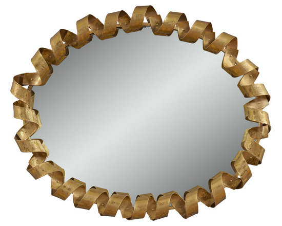 Bassett Mirror - Bassett Mirror Fiesta Wall Mirror - If you're looking for a truly unique piece that will certainly be a conversation starter, the Fiesta's gold finish curlicue frame steals the show.